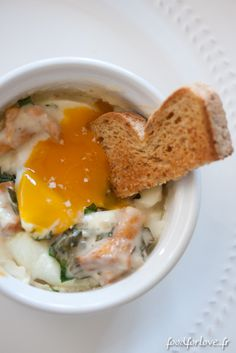 Photo Oeufs Cocotte aux Girolles