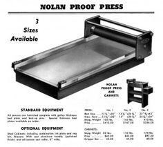 Nolan flatbed press for letterpress