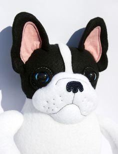 Kuscheltiere - French Bulldog Buddy - ein Designerstück von entala bei DaWanda
