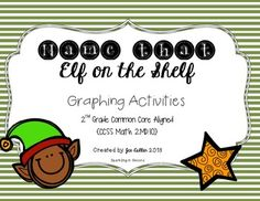 {Aligned to CCSS Math.2.MD.10.D for 2nd grade}  Need a name for your elf? This is an activity that is sure to get the students excited! First they have to take a survey of the top 4 names they'd like to name the elf. After the survey using tally marks, they can graph their results as a picture graph or on a bar graph.