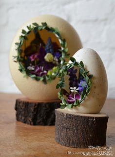 Цветочные композиции из яичной скорлупы