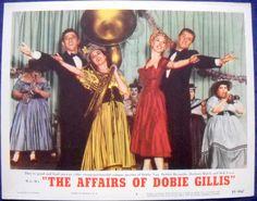 THE AFFAIRS OF DOBIE GILLIS MOVIE POSTER Debbie Reynolds Lobby Card #7-1956