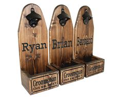 The Groomsman – Gifts He'd Like to Have – Gift Ideas Anywhere Beer Wedding, Custom Caps, Wood Projects For Beginners, All Beer, Beer Bottle Opener, Bridesmaids And Groomsmen, Bond Street, Easy Woodworking Projects, Groomsman Gifts