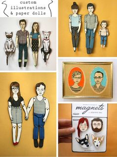 custom illustrations and paper dolls