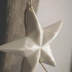 Guirlande d'étoiles en porcelaine - Le Repère des Belettes