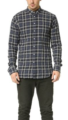 Officine Generale Lipp Stitch Japanese Twill Shirt