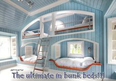 Ultimate bunk beds...could solve a lot of problems ;)
