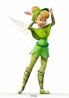 Tinker Bell dressed like Peter Pan - It's a Disney World Tinkerbell And Friends, Tinkerbell Fairies, Tinkerbell Disney, Disney Fairies, Tinkerbell Party, Tattoo Tinkerbell, Disney Love, Disney Magic, Disney Art