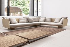 Sabi Modern Contemporary Outdoor Sectional Sofa Designs by Paola Lenti - Iroonie. Deco Furniture, Furniture Layout, Cheap Furniture, Dining Furniture, Modern Furniture, Furniture Design, Furniture Ideas, Victorian Furniture, Furniture Placement