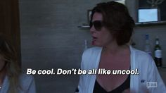 When someone who is unbelievably cute starts walking towards you and your friends. | Community Post: 15 Times LuAnn De Lesseps Summed Up What It's Like To Go Clubbing