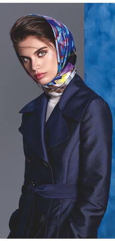 Sara Sampaio, scarf, headscarf