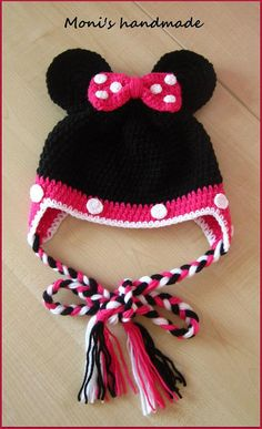 Minnie mouse crochet hat / beanie by Monishandmade on Etsy, $15.00