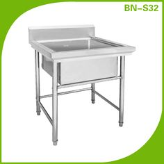 Commercial Stainless Steel (1) One Compartment Utility Prep Mop ...