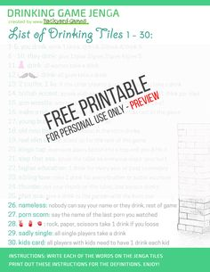 Jenga Drinking Game – Unofficial Rules On How To Play Drunk Jenga! Drinking Games For Couples, Outdoor Drinking Games, Fun Drinking Games, Outdoor Games Adults, Fun Outdoor Games, Backyard Games, Jenga Diy, Jenga Game, Drinking Jenga Rules