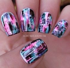Bright Splatter Manicure
