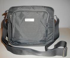 BAGGALLINI PASSAGE Crossbody Bag Gray Zip Top Handbag Nylon Organizer NEW  NWT  Baggallini  CrossBody d13d121d1336c