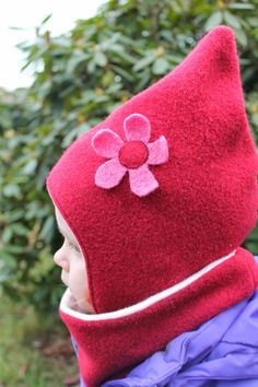 Die Wintermütze die gut sitzt, nicht rutscht und auch die Ohren warm hält! Für den Außenstoff verwende ich Walk oder Wollfleece und ...