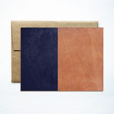 Ferme À Papier Leather Color Block Card