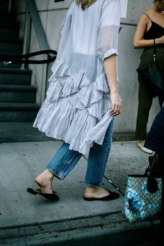 Shirt with frill