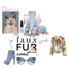 """""""Faux Fur : Glamour Puss"""" by annacullart ❤ liked on Polyvore featuring Miu Miu, Miss Selfridge, Kate Spade, Fendi, Ben-Amun, Forever 21, Chi Chi, Martha Stewart, contestentry and fauxfurcoats"""