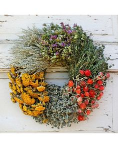Floral Herb Wreath