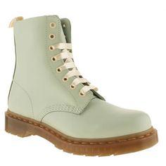 Womens Pale Blue Dr Martens 8 Eye Pastel Boots | schuh