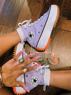 Dr Shoes, Swag Shoes, Hype Shoes, Crazy Shoes, Me Too Shoes, Mode Converse, Purple Converse, Converse High, Jordan Shoes Girls