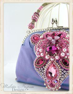 Andrea Purse by Melissa Ingram Embellished Purses, Beaded Purses, Beaded Bags, Embroidery Bags, Beaded Embroidery, Soutache Jewelry, Beaded Jewelry, Fashion Handbags, Purses And Handbags