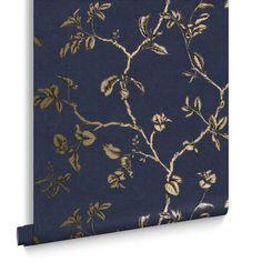 Twining Midnight Wallpaper | Blue Wallpaper | Graham & Brown