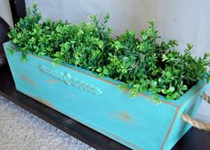 I'm in love with this planter/flower box!  Can't wait to make one just like it.