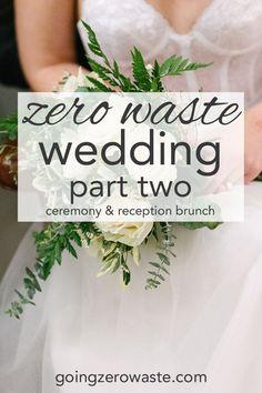A zero waste wedding ceremony and reception brunch in San Francisco, CA from www.goingzerowaste.com