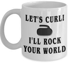 Curling Coffee Mug - Funny Coffee Mug - Curling Mug - Unique Coffee Mug - Humorous Mug - Winter Sport - Gift For Her - Gift For Him by InspireAndSmile on Etsy