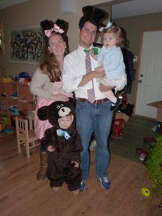 Three Bears Halloween costumes