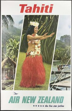 Tahiti Air New Zealand TYPE: Library / Pictorial CONTRIBUTOR: Air New Zealand ID: EPH-PT-19-1