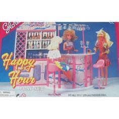 amazoncom barbie size dollhouse furniture happy hour playset toys games amazoncom barbie size dollhouse