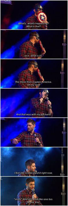 [gifset] Captain!Jensen at #JibCon2015