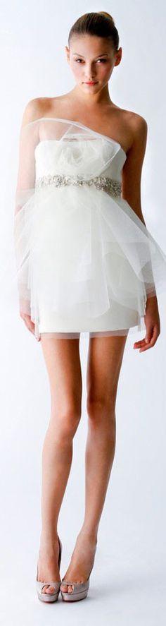 Marchesa Bridal Spring 2010 #bride #wedding #dress