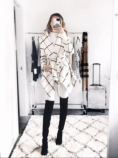 Winter White: Chicwish coat, Bishop Young turtleneck (or go for a plain white turtleneck), Stuart Weitzman Tieland boots