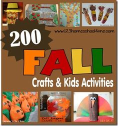 123 Homeschool 4 Me: 200 Fall Crafts, Kids Activities, Printables, and Snack Ideas Easy Fall Crafts, Fall Crafts For Kids, Thanksgiving Crafts, Toddler Crafts, Preschool Crafts, Holiday Crafts, Holiday Fun, Fall Preschool, Kid Crafts