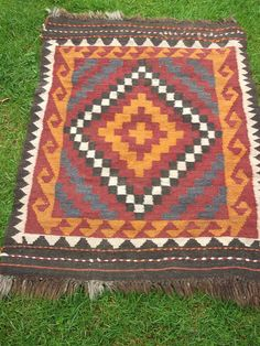 Square 4 x 2 ft  Maimana Hand woven Rug/Kilim/Carpet by BlueTeddy, $70.00    Blue Teddy for lots of rug options