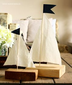 Scrap Wood Sailboats - http://akadesign.ca/scrap-wood-sailboats/