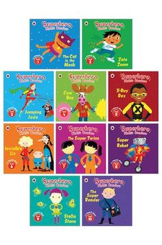 Ladybird's bright, beautiful phonics series helps you keep going with phonics as you move into Key Stage 1. Show off your reading superpowers! We simply love this series. It's got the best colour artwork, and exciting stories full of phonics action. It's got fantastic characters: the mysterious Cat in the Mask, chilled-out Cow Boy and the super-cool Super Reader. Plus a reward chart and puzzle pages in each book, and simple progression to keep you moving forward. First Day Of School, Back To School, Super Reader, Key Stage 1, School Readiness, Home Learning, Moving Forward, Super Powers, Phonics