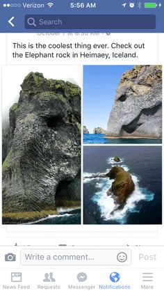 The Elephantrock ~ Heimaey, Iceland. Vacation Places, Dream Vacations, Vacation Spots, Beautiful Places To Travel, Cool Places To Visit, To Infinity And Beyond, Future Travel, Pics Art, Wonders Of The World