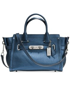 Coach Swagger 27 In Metallic Pebble Leather