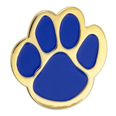 PinMart's Blue and Gold Animal Paw Print School Mascot Enamel Lapel Pin - CQ11TH96TL1 - Brooches & Pins  #jewellrix #Brooches #Pins #jewelry #fashionstyle