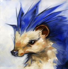 Sonic is one pissed off little Hedgehog in this fan art painting by Tyler Coey. Doctor Robotnik had best watch his back.  Sonic The Hedgehog by Tyler Coey (deviantART) (Facebook) (Twitter)