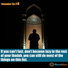For whatever reason you CAN'T fast, there is still many ways to make the most of #Ramadan.   #Charity #Quran #FeedOthers