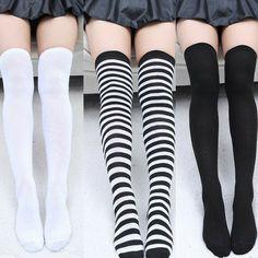 Stockings Knee Socks New Fashion Women's Socks Sexy Thin Warm Thigh High Over The Knee Socks Long Stockings For Girl Women Fashion Socks, Cute Fashion, Fashion Outfits, Womens Fashion, Thigh High Socks, Thigh Highs, Knee Socks Outfits, Cute Stockings, Cute Socks
