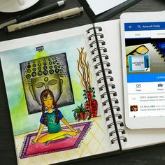 Day 6 - Sum yogaa for d mind #metime #peace #yogaposer #artillustration  #creative #artwork #illustration #draw #drawing #color #art #artist #painting #paint #artistsoninstagram #artistsofinstagram @deviantart #dailydeviation