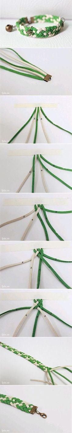 Tutorial: Pulsera trenzada de antelina.